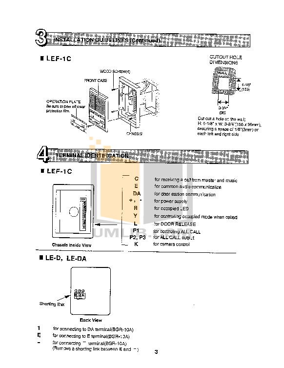 Aiphone Other AX-B Intercoms pdf page preview