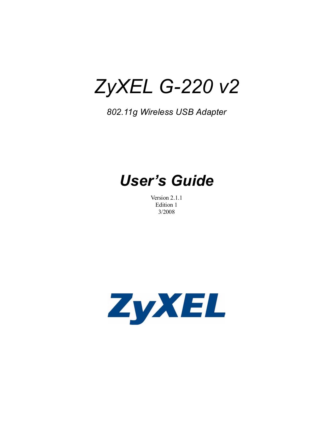 Zyxel zyair g-220 xp driver crew-instruction.