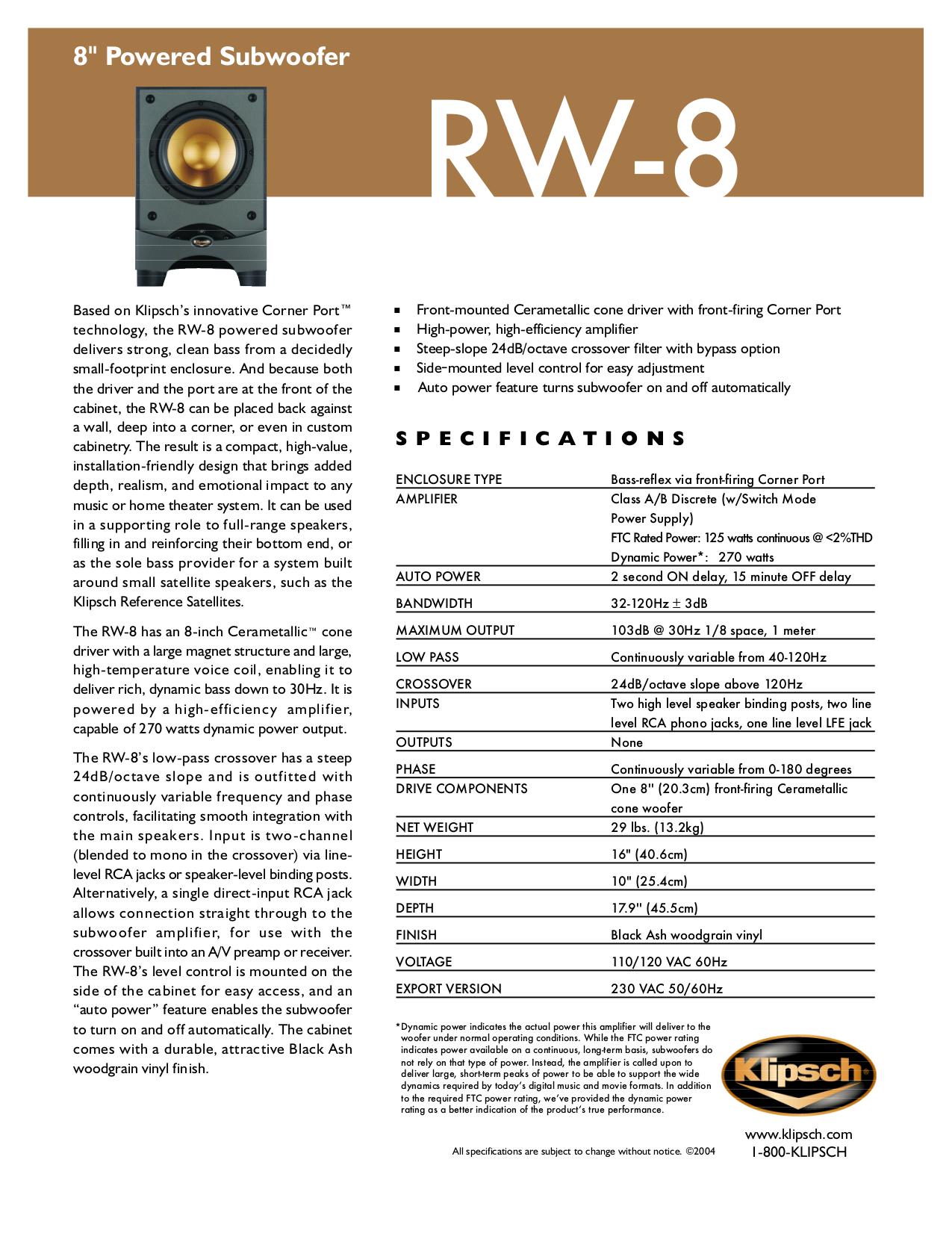 Klipsch Rb25 Wiring Diagram Circuit Symbols Rb25det Download Free Pdf For Rw 8 Subwoofer Manual Rh Umlib Com Simple Diagrams