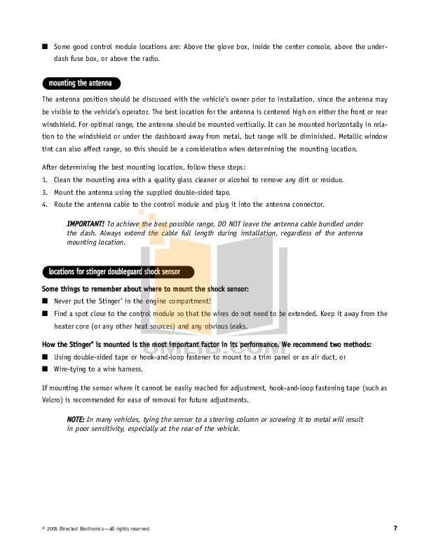 pdf manual for dei other python 1600xp car alarms rh umlib com Tile Installation Manual Construction Installation Manual
