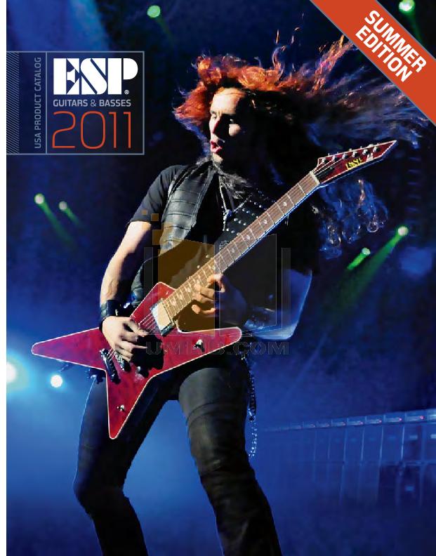 pdf for ESP Guitar AX-54 manual