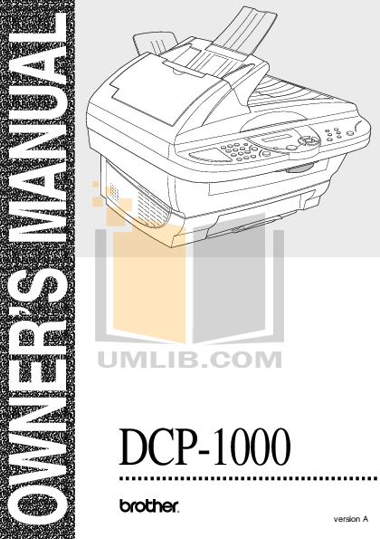 pdf for Brother Fax Machine FAX-1000 manual