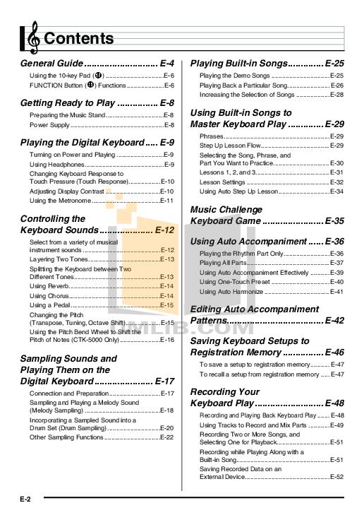 pdf manual for casio music keyboard ctk 5000 rh umlib com casio ctk 500 manual casio ctk 5000 service manual
