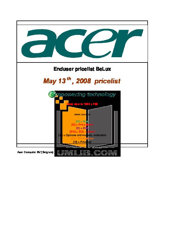 pdf for Acer Desktop AcerPower FE manual