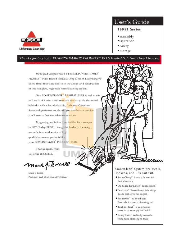 pdf for Bissell Vacuum 25A3 manual
