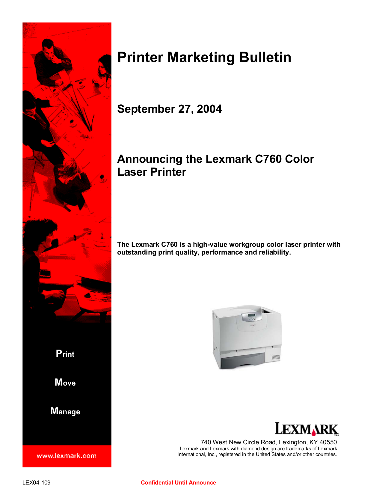 pdf for Lexmark Printer W812dtn manual