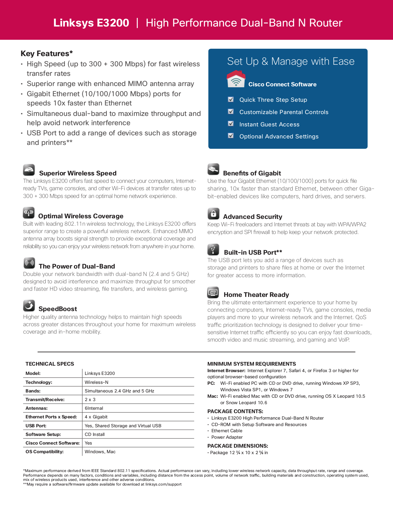 Download free pdf for Linksys E3200 Wireless Router manual