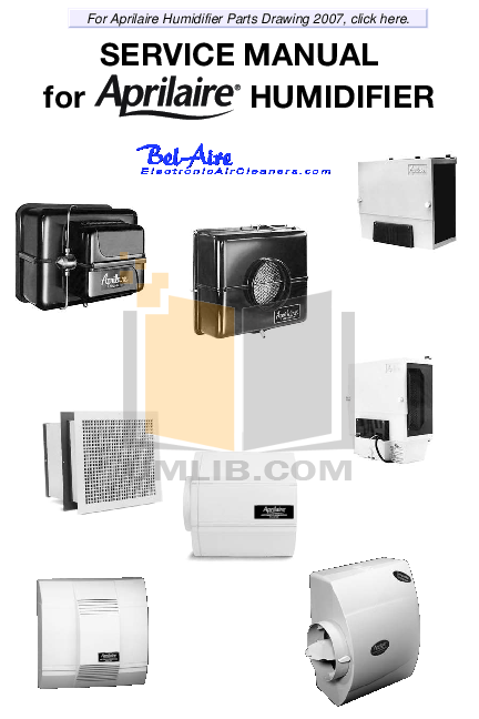 pdf for Aprilaire Humidifier 360 manual