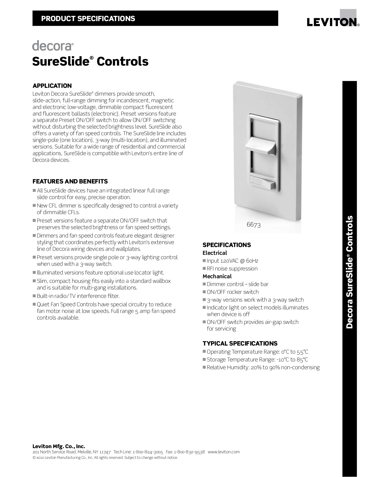 pdf for leviton other sureslide 6631 l dimmers manual