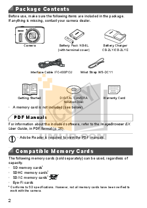 Canon Digital Camera Powershot SX230 HS pdf page preview
