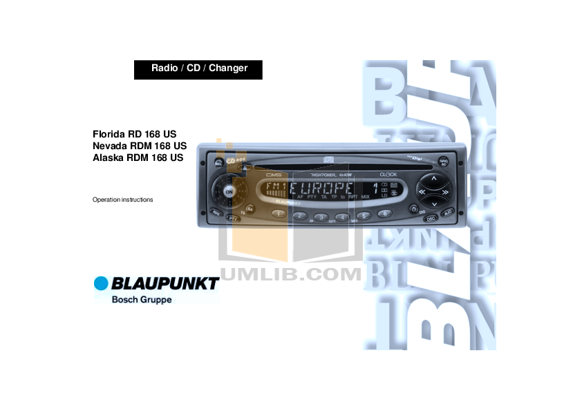 download free pdf for blaupunkt florida rd 168 car receiver manual rh umlib com blaupunkt car stereo installation manual Blaupunkt Race Car