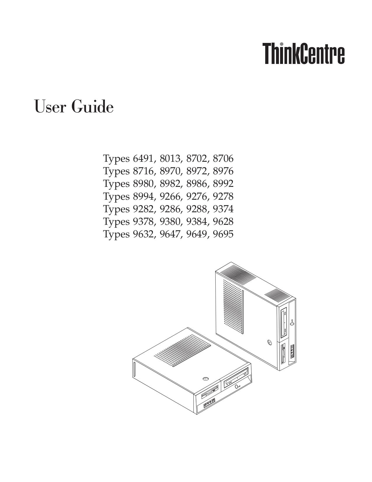 pdf for Lenovo Desktop ThinkCentre M55e 6491 manual