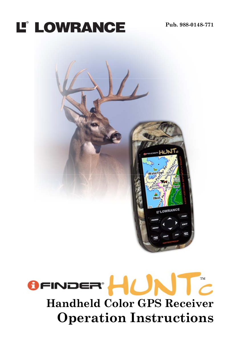pdf for Lowrance GPS iFINDER Hunt C manual