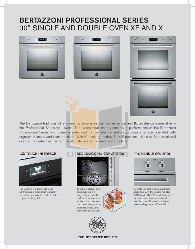 pdf for Bertazzoni Oven F30PROX manual