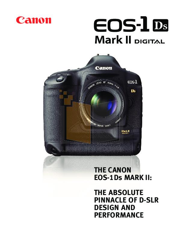 download free pdf for canon eos 1d mark ii n digital camera manual rh umlib com Canon Mark II vs III Canon 7D Mark II Portraits