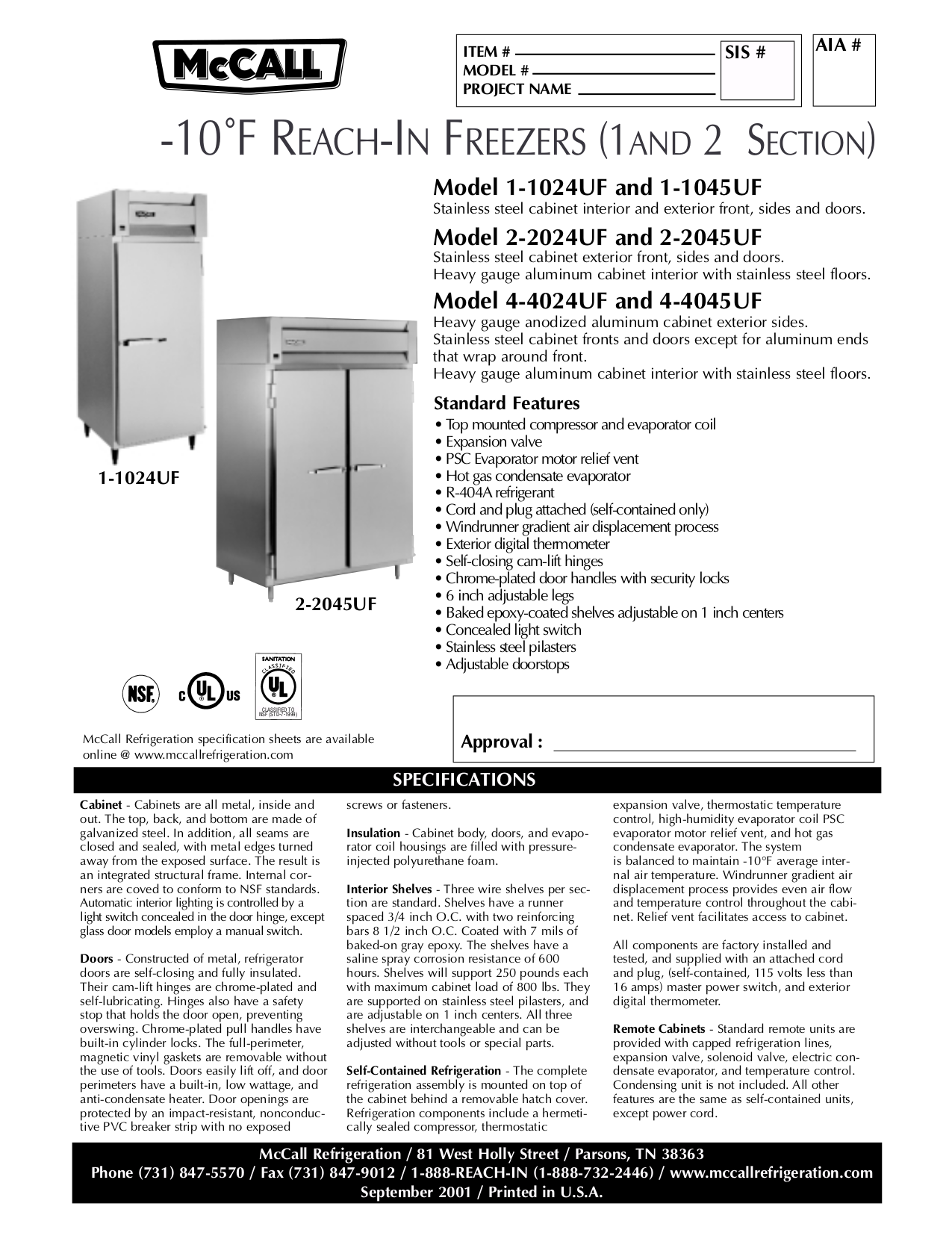 pdf for McCall Refrigerator ST-27-2 manual