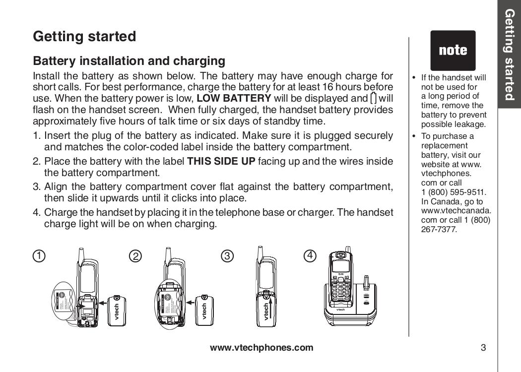 pdf manual for vtech telephone cs5113 rh umlib com VTech Toy Cell Phone VTech Telephone Number