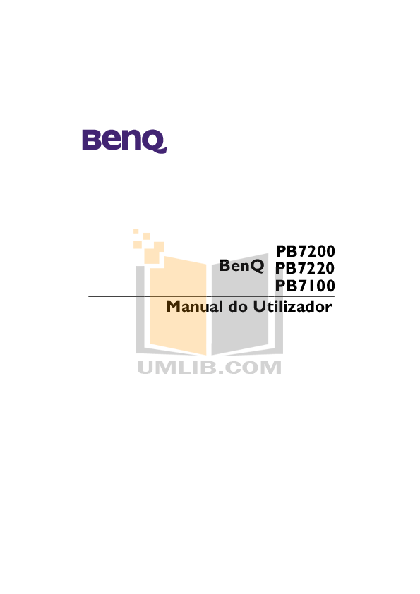 pdf for Benq Projector PB7200 manual