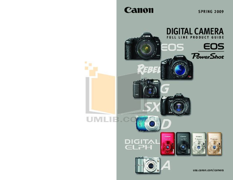 pdf for Canon Digital Camera Powershot A2100 IS manual