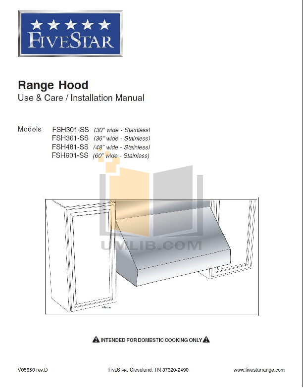 pdf for FiveStar Range TTN047-7 manual