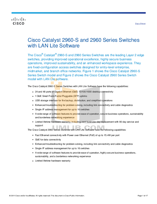 Download free pdf for Cisco Catalyst 2960-24TT Switch manual
