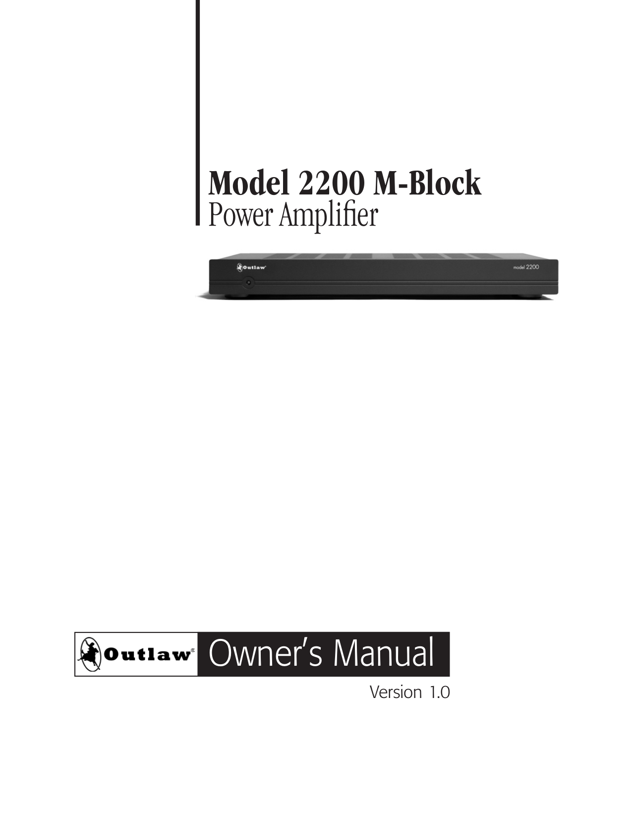 pdf for Outlaw Amp 990 manual