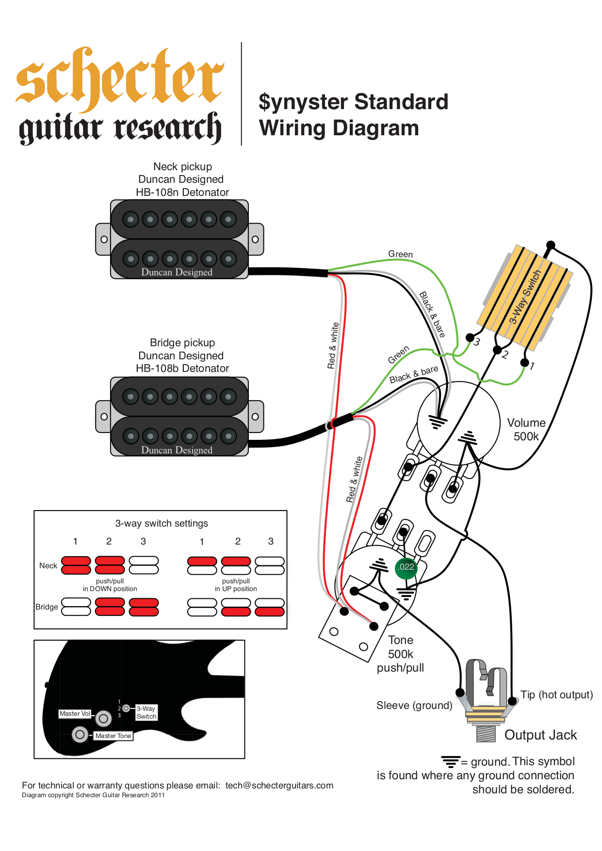 34 Schecter Diamond Series Wiring Diagram