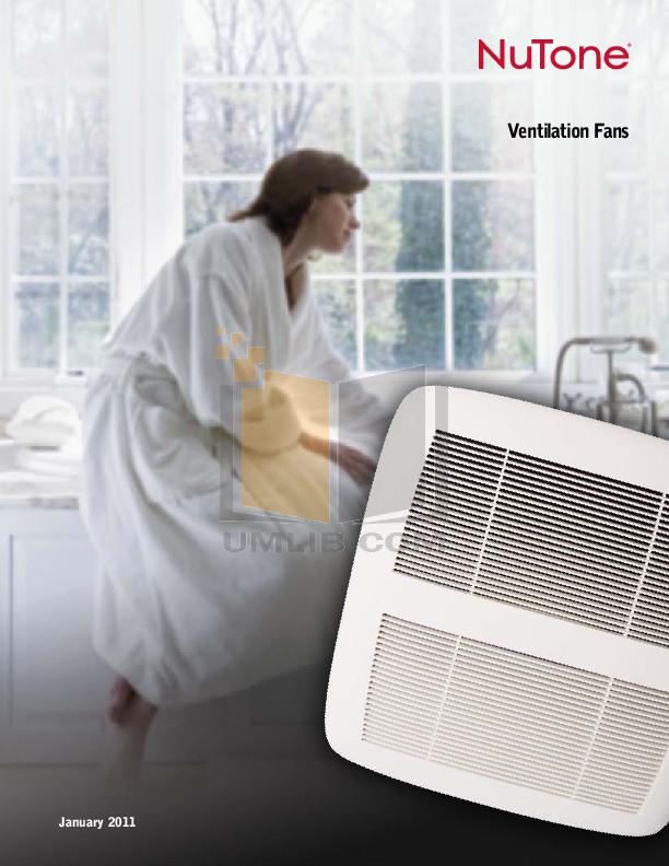 pdf for Broan-NuTone Other HD50RDB Ventilation Fans manual