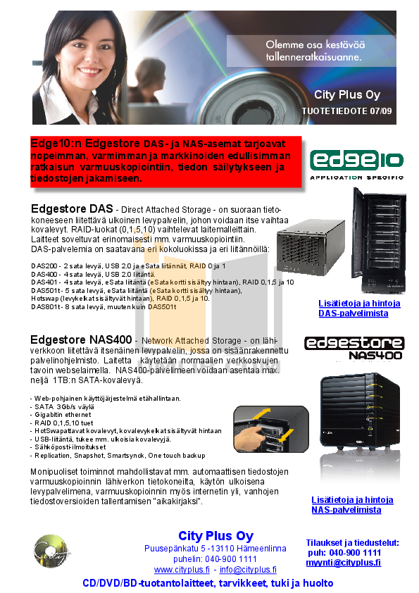 Edge10 Storage DAS401 pdf page preview