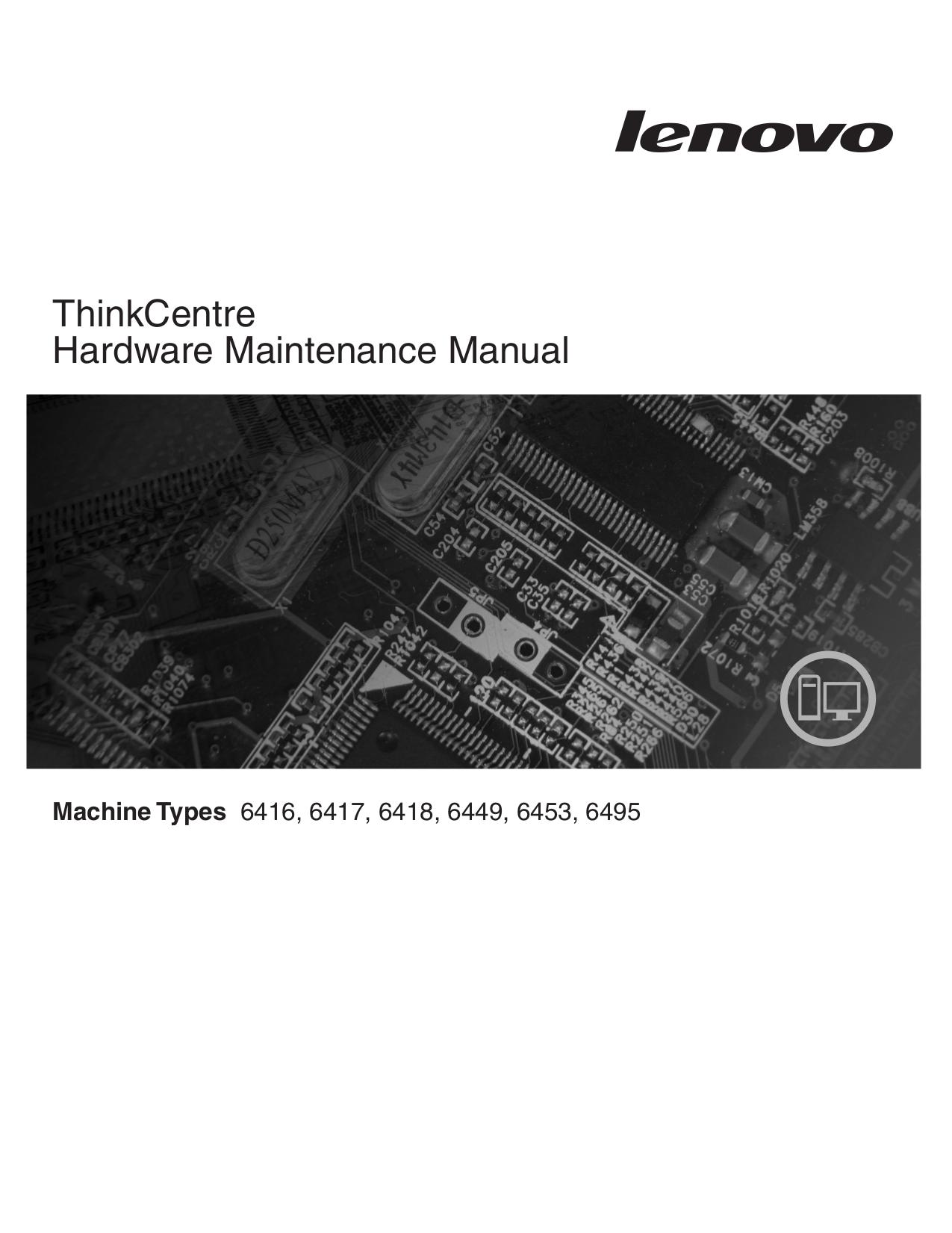 pdf for Lenovo Desktop ThinkCentre M57p 6397 manual
