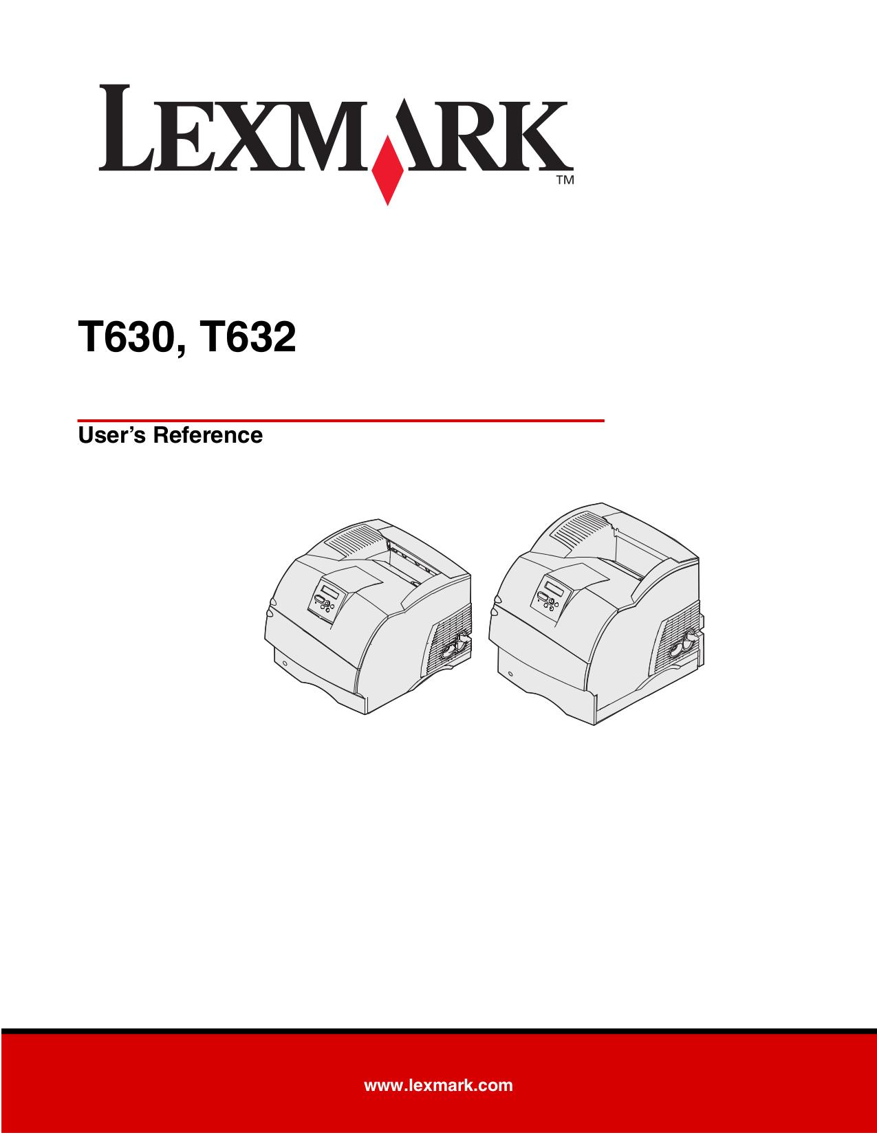pdf for Lexmark Printer T630 manual