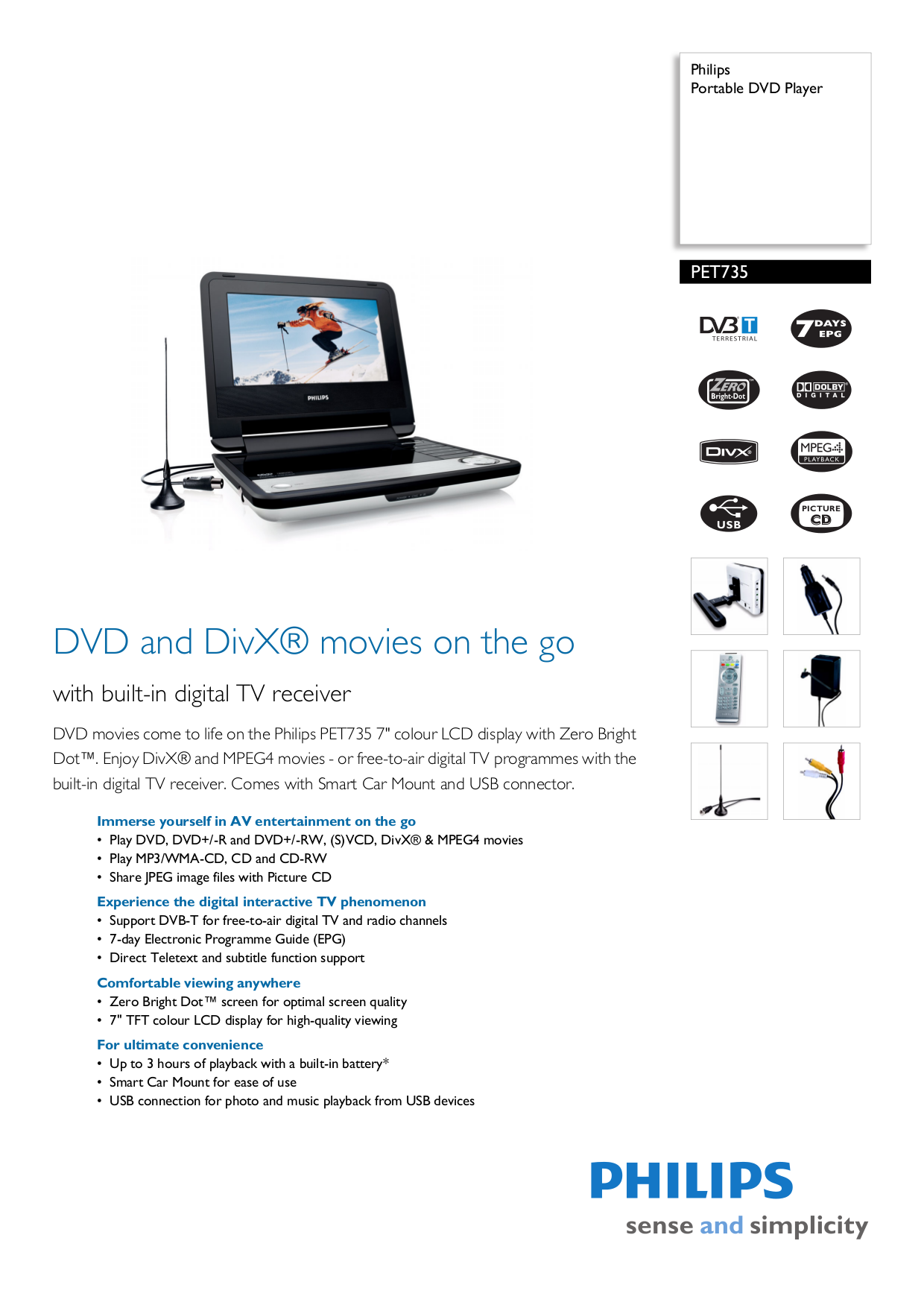 Pdf manual for philips portable dvd player pet741.