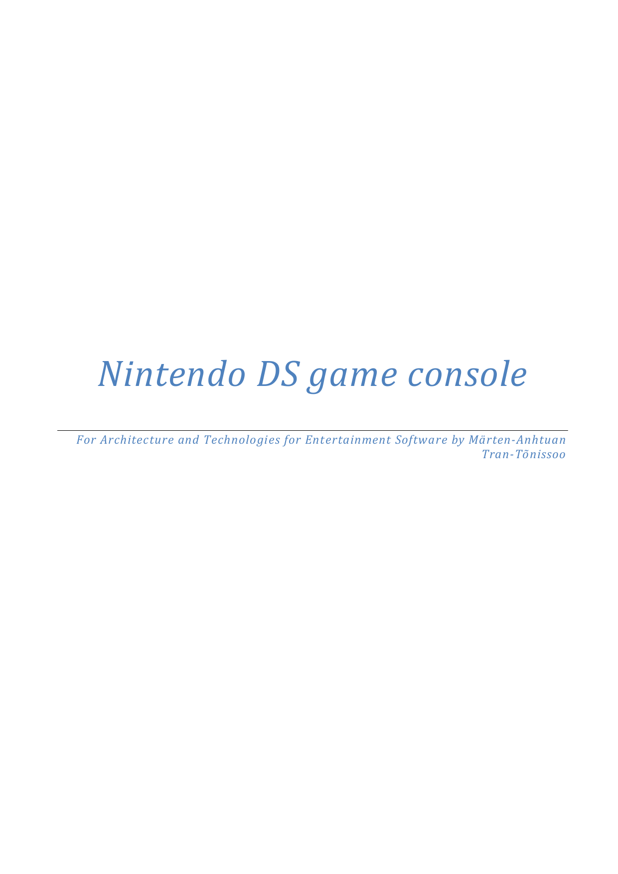 pdf for Nintendo Game Console DS Lite manual
