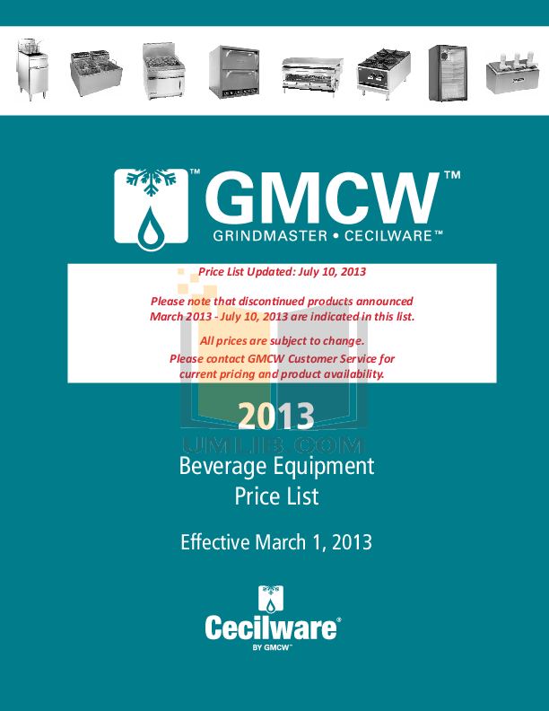pdf for Cecilware Other CCB-1812 Broilers manual