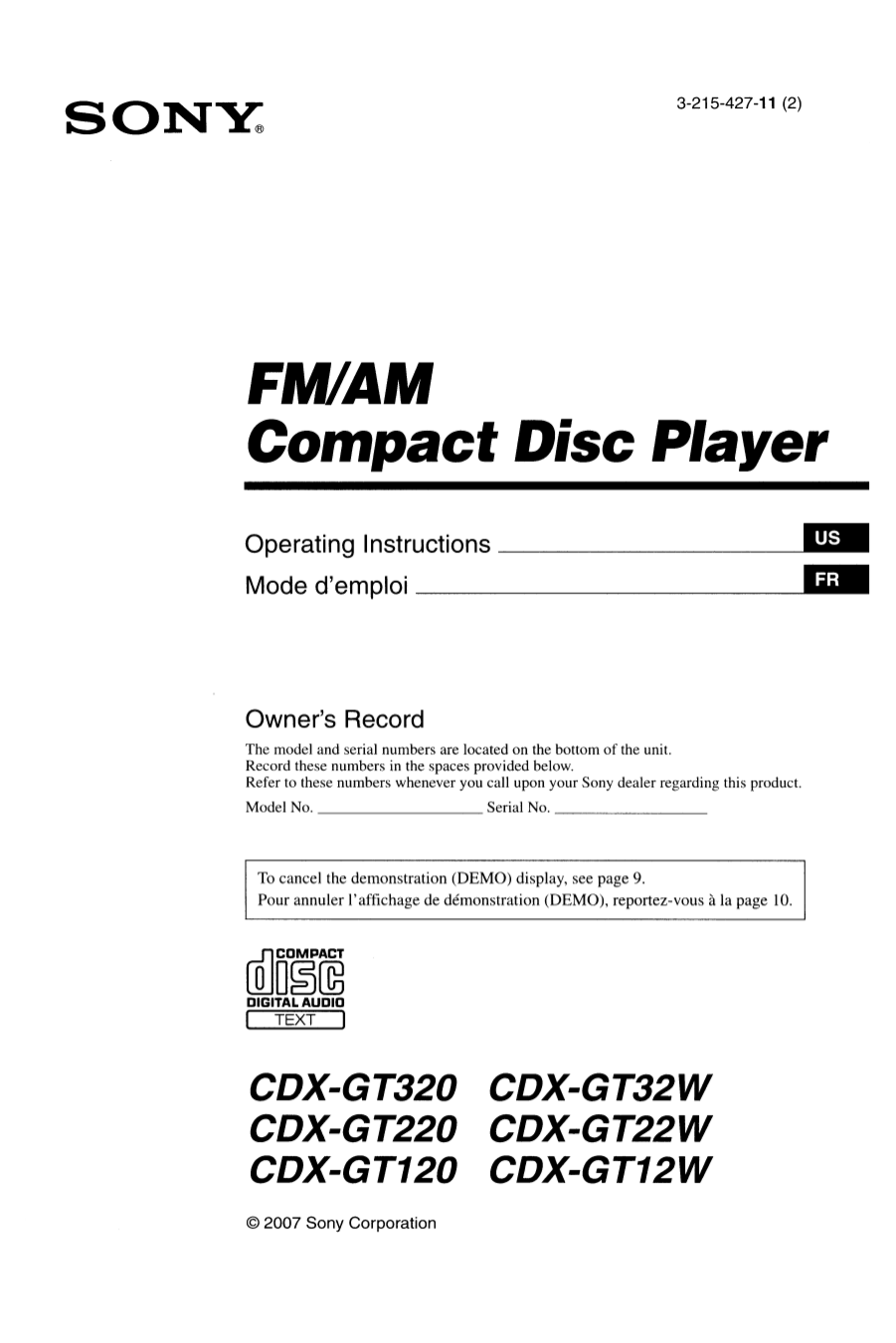 Sony cdx gt120 manual various owner manual guide download free pdf for sony cdx gt120 car receiver manual rh umlib com sony car radio cd player sony cdx gt120 installation manual publicscrutiny Gallery
