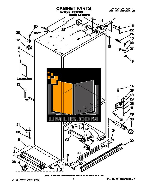 pdf for Dacor Refrigerator Integrated IF36RNBOL manual