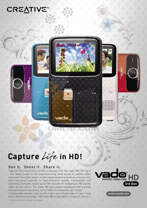 download free pdf for creative vado hd camcorders manual rh umlib com Creative Art Creative Apps
