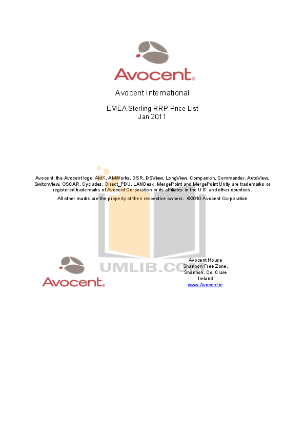 pdf for Avocent Switch DSR Series DSR8035DAC manual