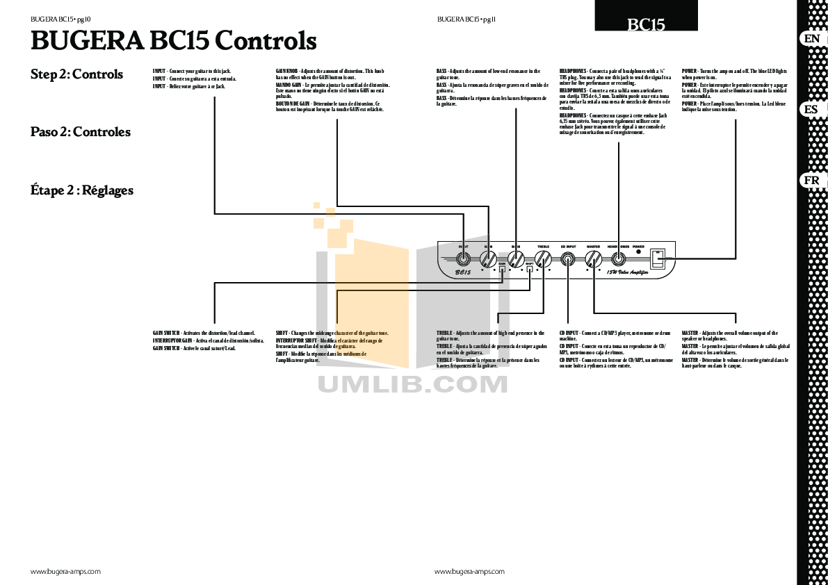 Bugera Amp BC15 pdf page preview