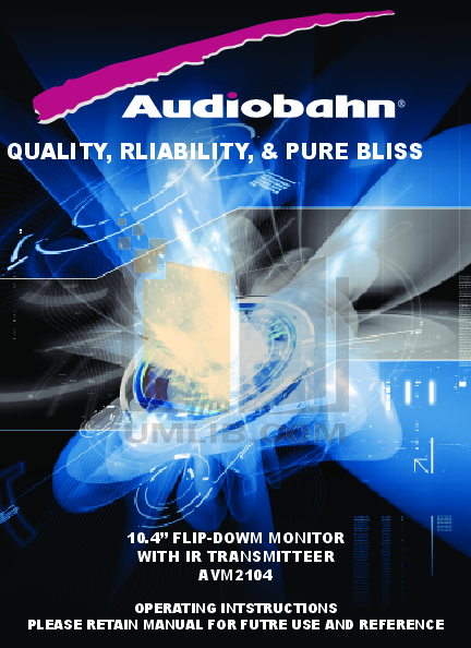 pdf for Audiobahn Car Video AVM2104V manual