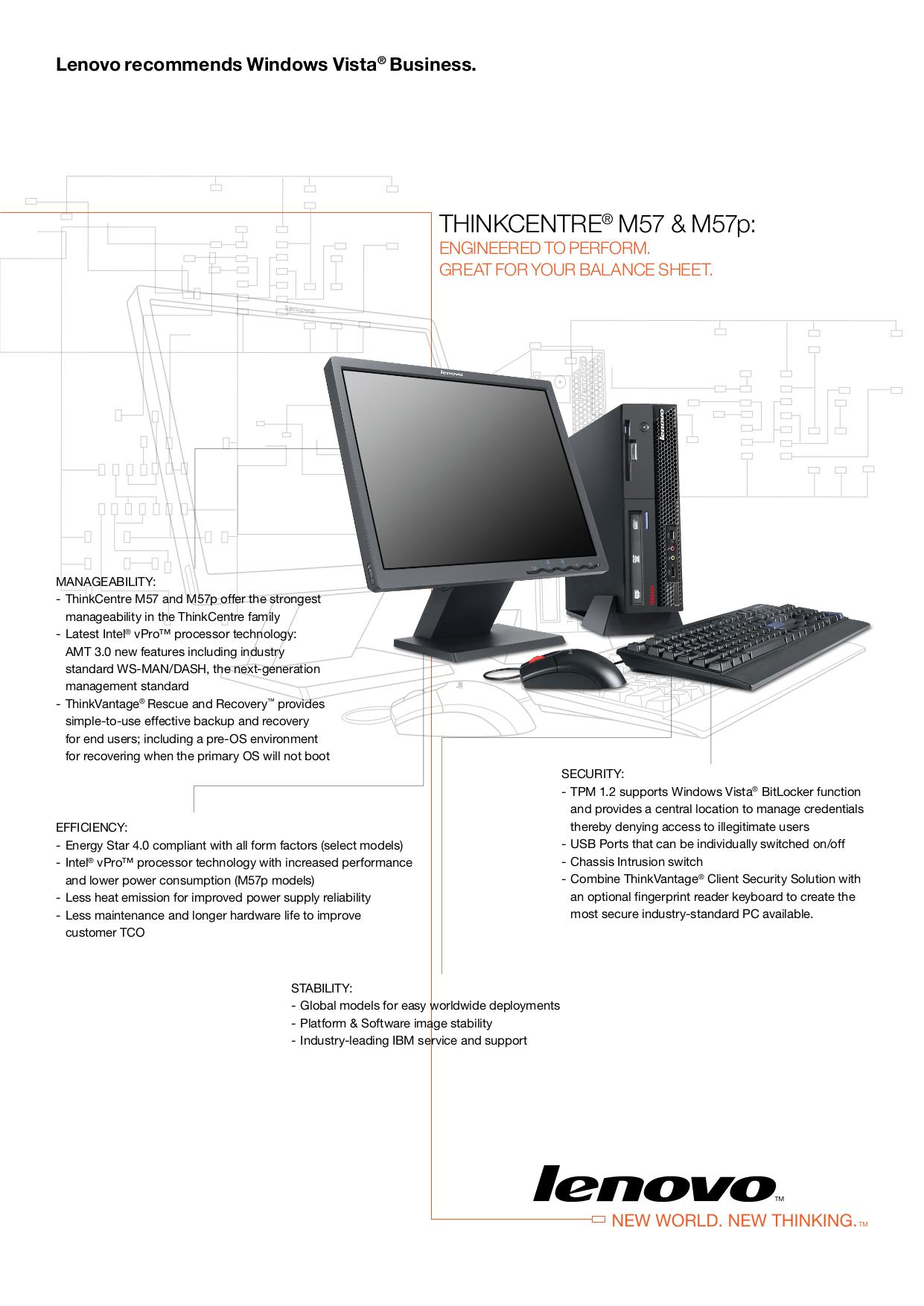 pdf for Lenovo Desktop ThinkCentre M57 6077 manual