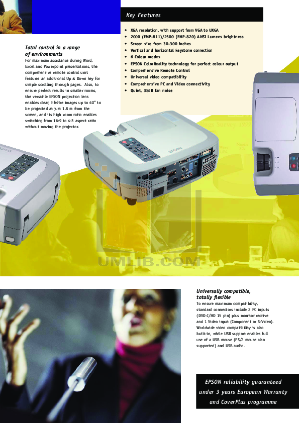 Epson Projector EMP-811 pdf page preview