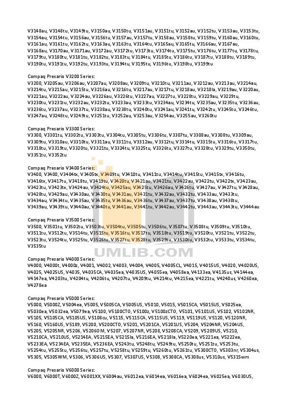 HP Laptop Pavilion DV1515 pdf page preview