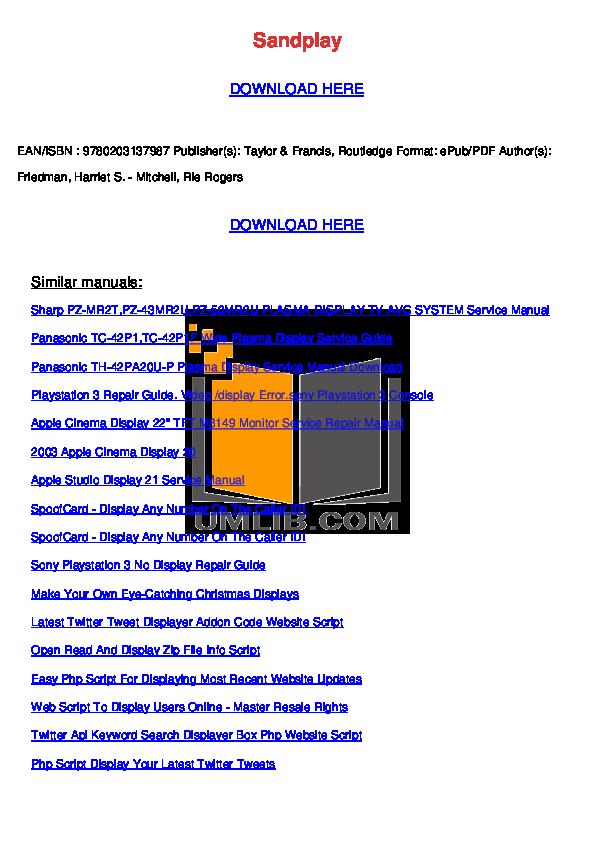 pdf for Hitachi TV 42PD7800 manual