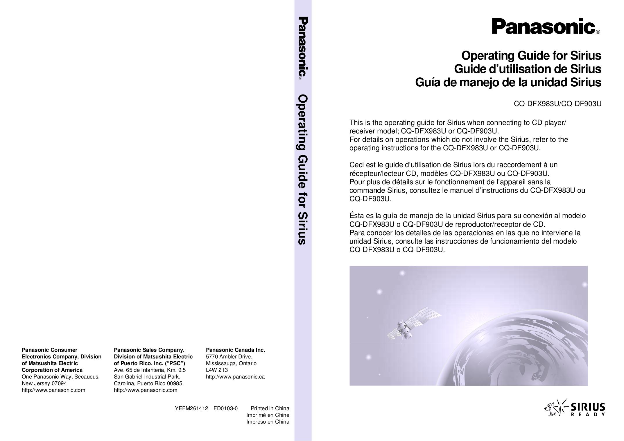 download free pdf for panasonic cq df903u car receiver manual rh umlib com Back of Panasonic Receiver Panasonic Receiver Amplifier