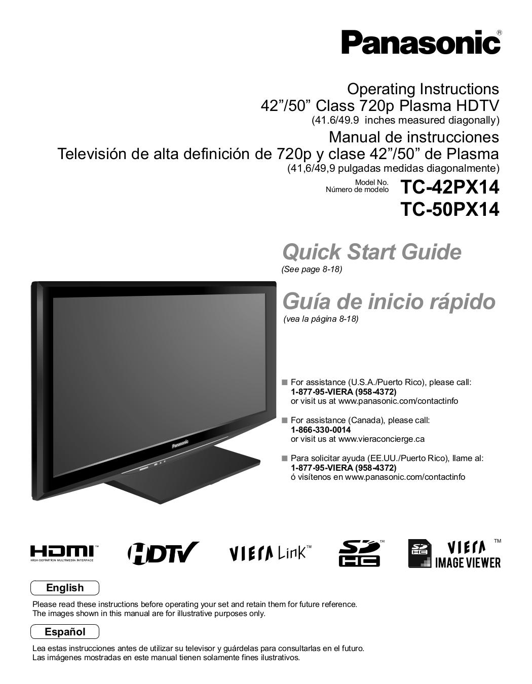 download free pdf for panasonic viera tc 42px14 tv manual rh umlib com panasonic viera manuel panasonic viera manual english