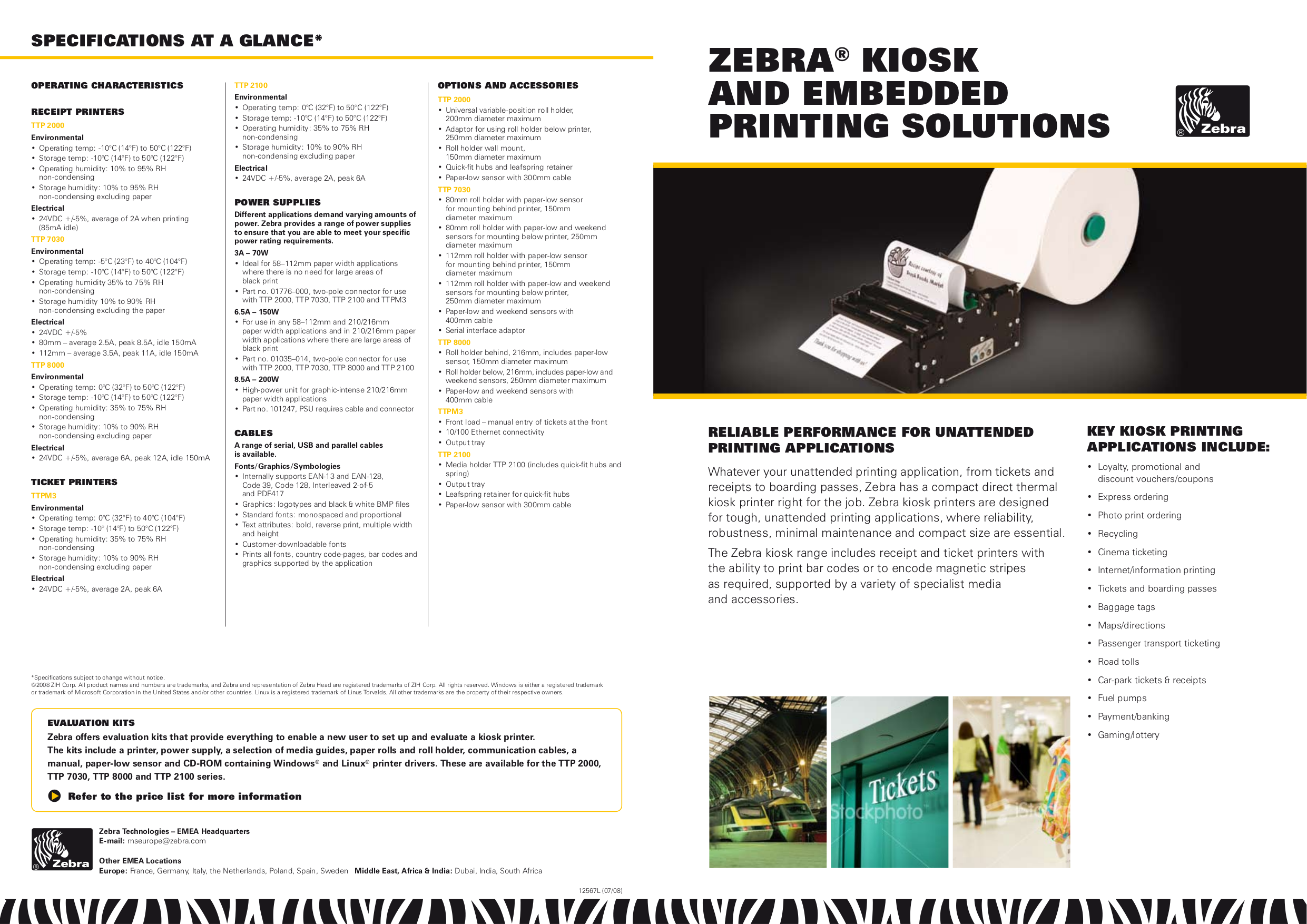 Download free pdf for Zebra TTP7030 Printer manual