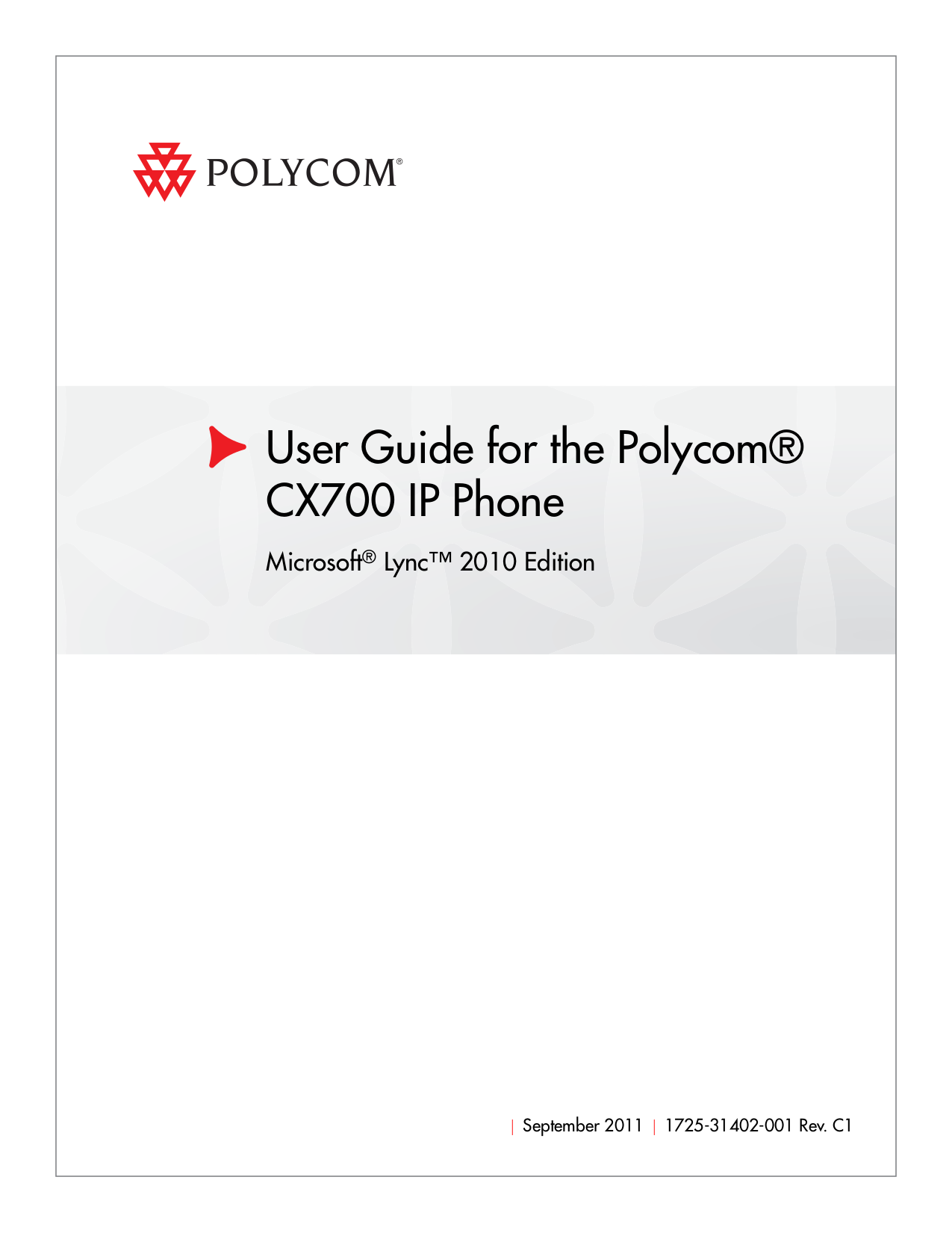 download free pdf for polycom cx700 telephone manual rh umlib com Polycom CX700 Reset Polycom CX700 Accessories