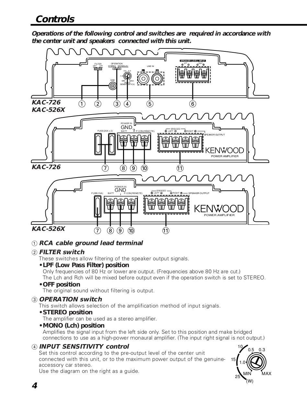 Kenwood Amp KAC-726 pdf page preview