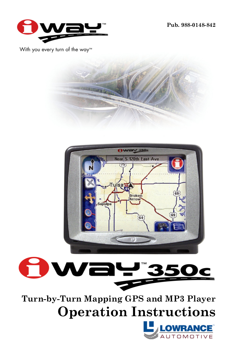 pdf for Lowrance GPS iWAY 350C manual